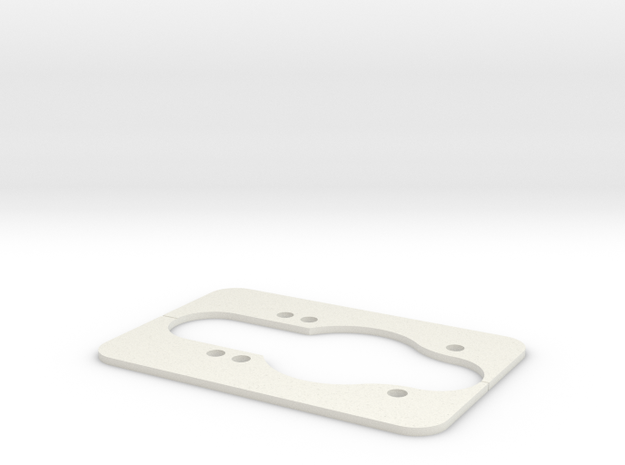 Longboard Dropthrough Template in White Strong & Flexible