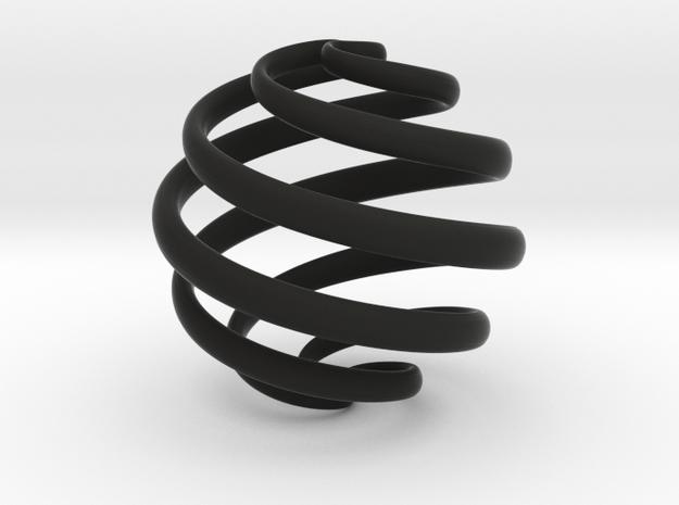 Archemedes Spiral Pendant 3d printed