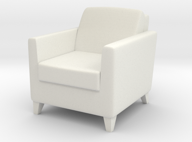 1:24 Arm Chair 1 in White Natural Versatile Plastic