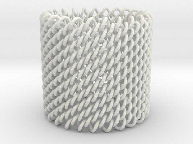 Elastic 3d Fabric Cuff Bracelet 3d printed