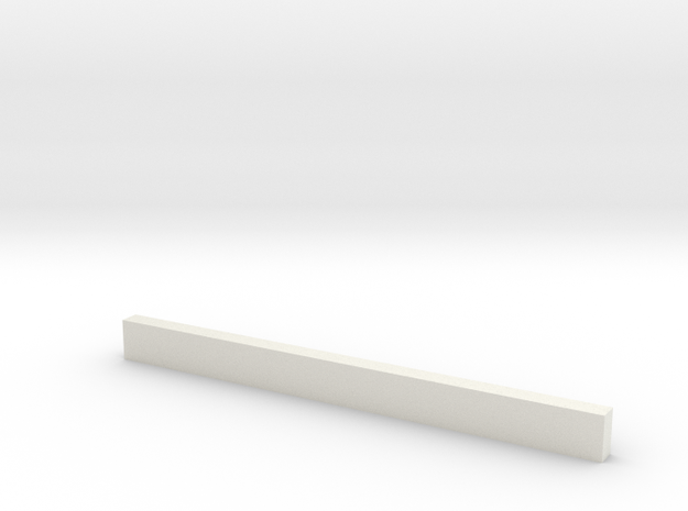 thin bars 2 5mm thickness 5mm width in White Natural Versatile Plastic