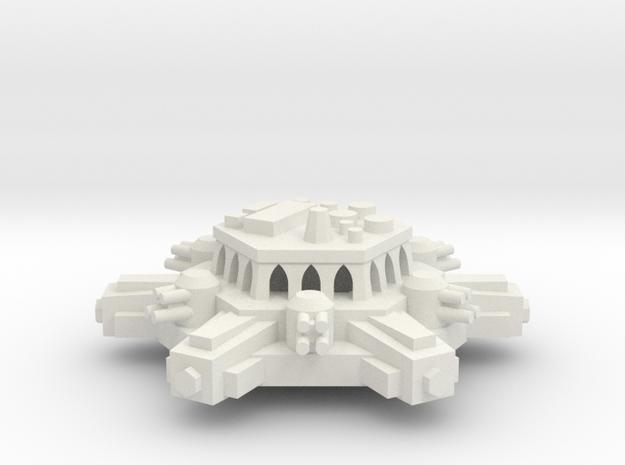 BFG Orbital Defense Battery Platform in White Natural Versatile Plastic