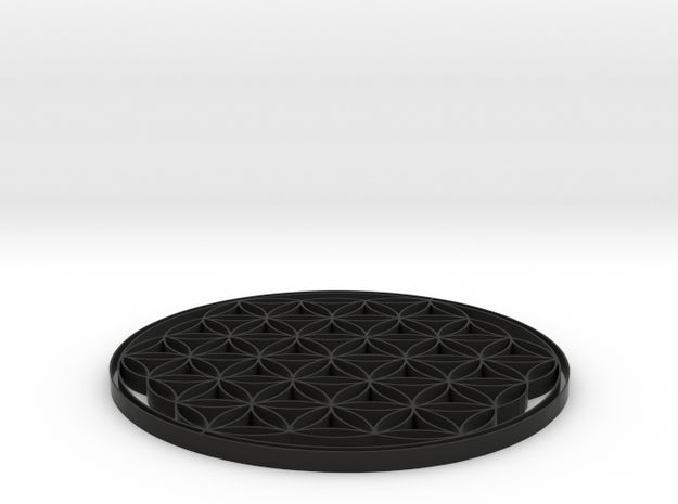 Flower of life coaster 100x4mm 3d printed