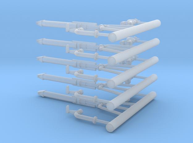 Schaum-Wasserwerfer 3tlg-5Stck in Smooth Fine Detail Plastic