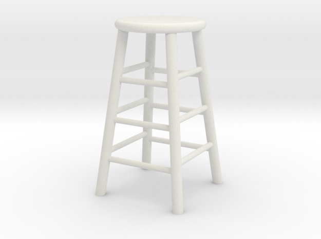 1:24 Wood Stool 1 (Not Full Size) 3d printed