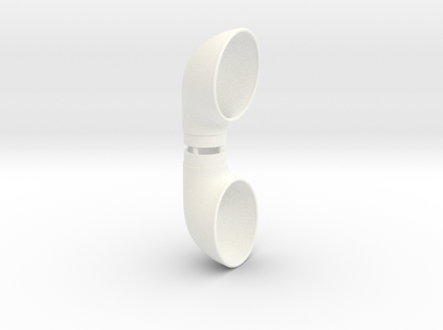 Cowl Vent, .688inch Tube Size in White Processed Versatile Plastic