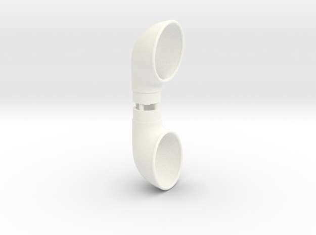 Cowl Vent, .500 inch Tube Diameter in White Strong & Flexible Polished