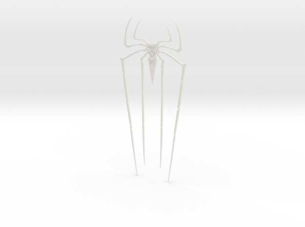 TASM Spider Symbol in White Natural Versatile Plastic