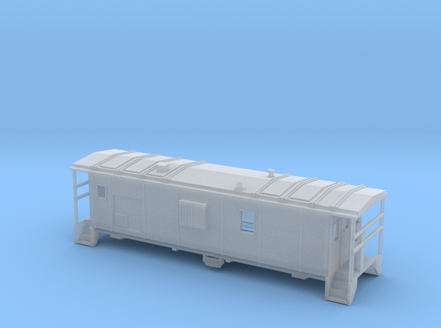 DMIR Minntac Caboose - Nscale in Smooth Fine Detail Plastic
