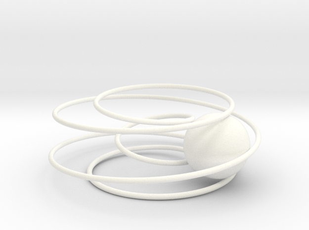 Ball in 5-Twist Mobius 3d printed