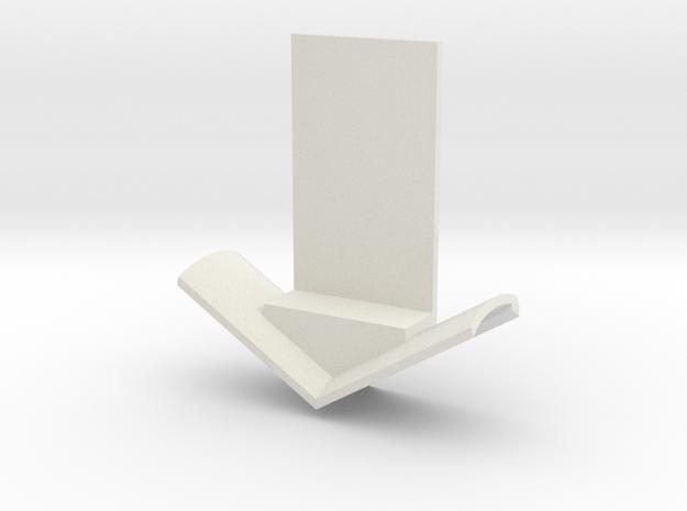 15mm Plow Blade in White Natural Versatile Plastic
