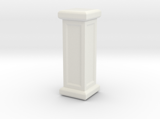 Square Pillar in White Strong & Flexible