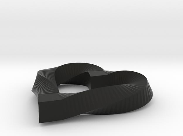 Valentines Mobius Heart Pendant 3d printed