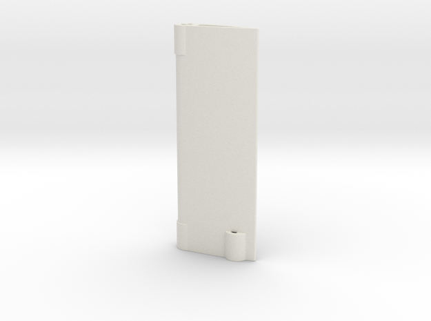 Rudder in White Natural Versatile Plastic