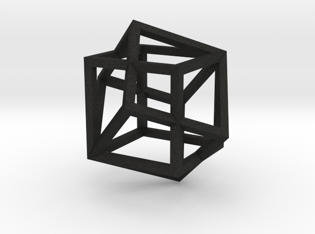 two cubes intersecting 3d printed