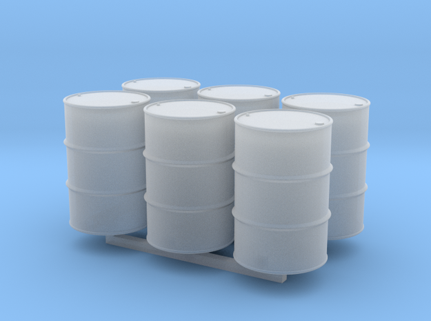 7mm 55 Gallon Drum Hollow X 6 in Smooth Fine Detail Plastic