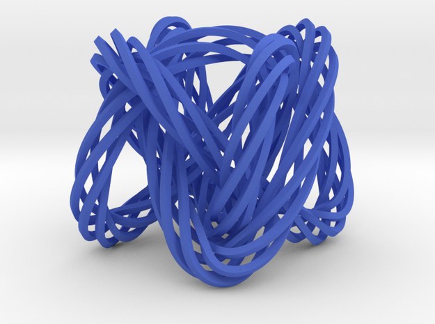 Knot, Knot.  Who's There?  Lissajous knot. in Blue Processed Versatile Plastic