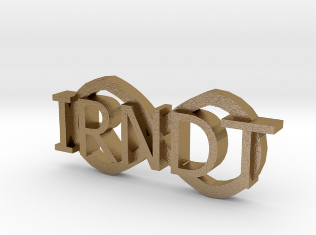 """IRNDT Logo Key Fob 3/4"""" height 3d printed"""