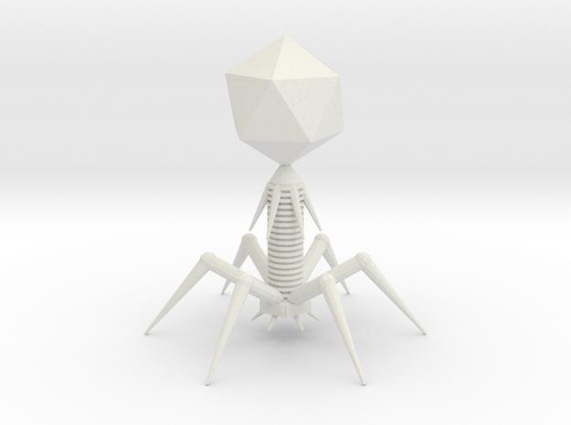 Bacteriophage T7 Model in White Natural Versatile Plastic