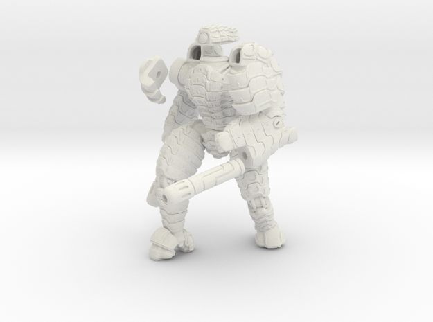 Mech suit with twin weapons. (7) in White Natural Versatile Plastic