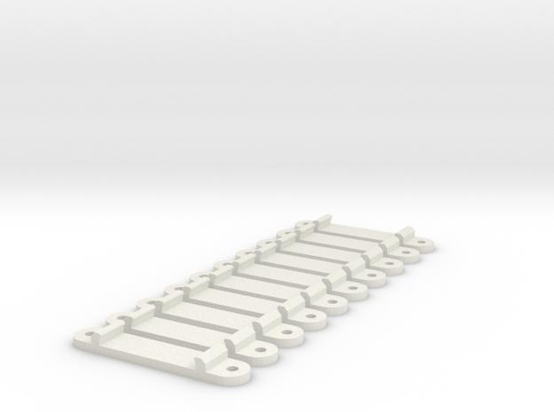 Höhenadapter für Tomixgleis, 1:160, 10x in White Natural Versatile Plastic