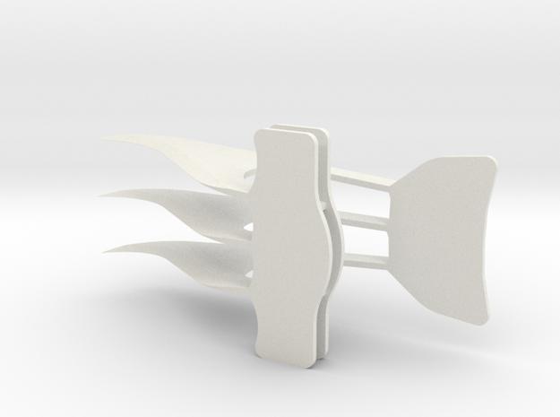 Sparrow in White Natural Versatile Plastic