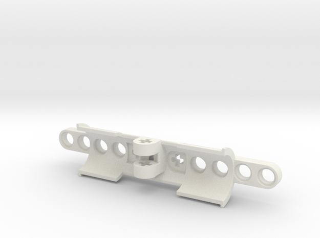 Cylinder Bracket in White Natural Versatile Plastic