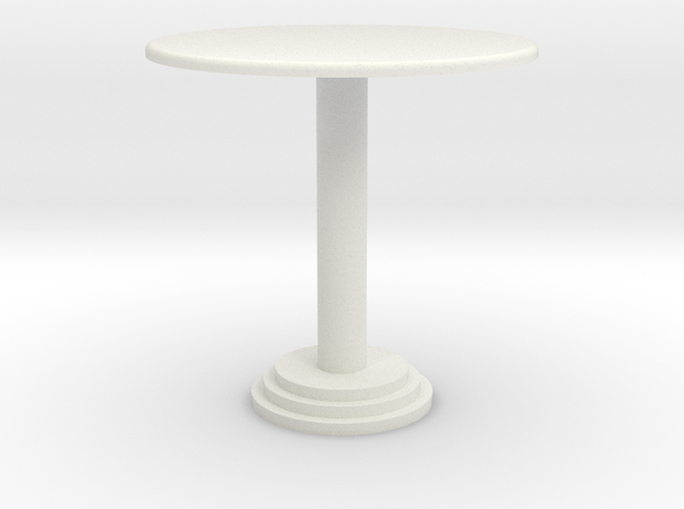1:24 Bar Table, Short in White Natural Versatile Plastic