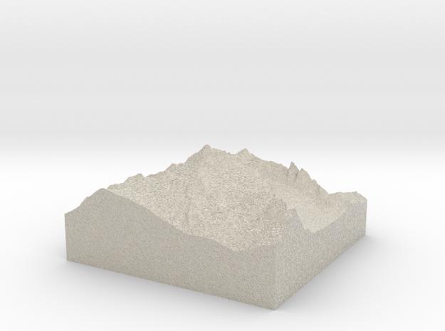 Model of Mount Shuksan 3d printed