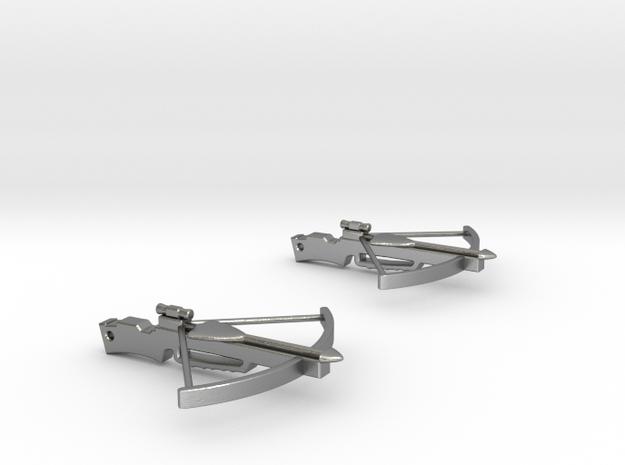 Cross Bow Earrings 3d printed