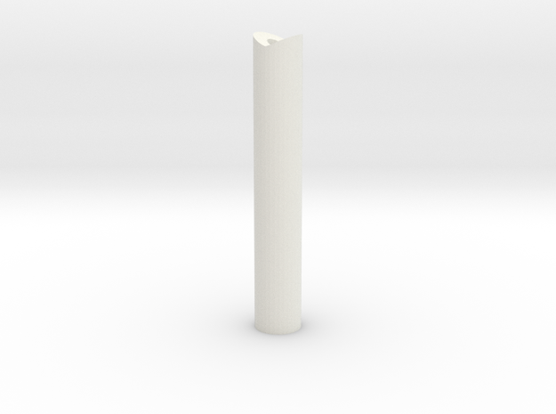 53mm tall felixstowe peg in White Strong & Flexible