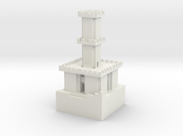 Guard Tower Lv5 in White Natural Versatile Plastic