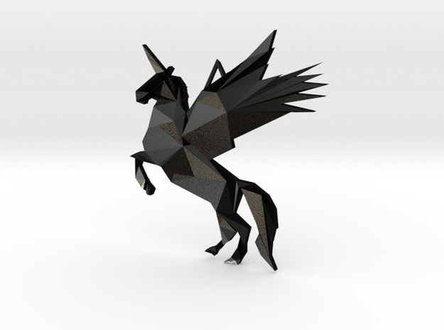 Pegasus Necklace in Matte Black Steel