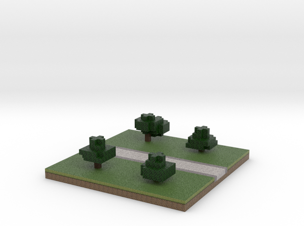 30x30 straight path (trees) (1mm series) 3d printed