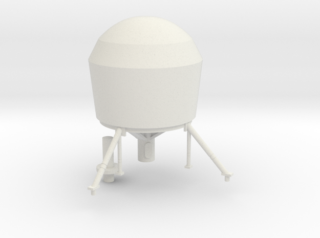 1:96 scale large dome for Ticonderoga in White Strong & Flexible