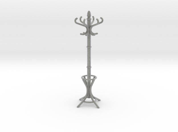 1:12 Coat Rack in Metallic Plastic
