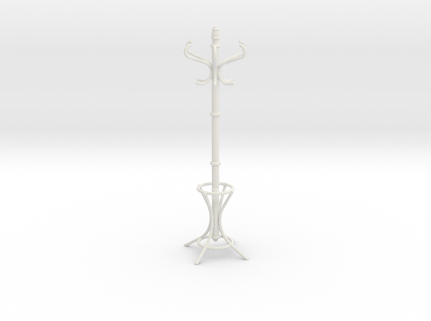 1:6 Coat Rack in White Natural Versatile Plastic