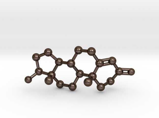 Testosterone Molecule Necklace BIG 3d printed