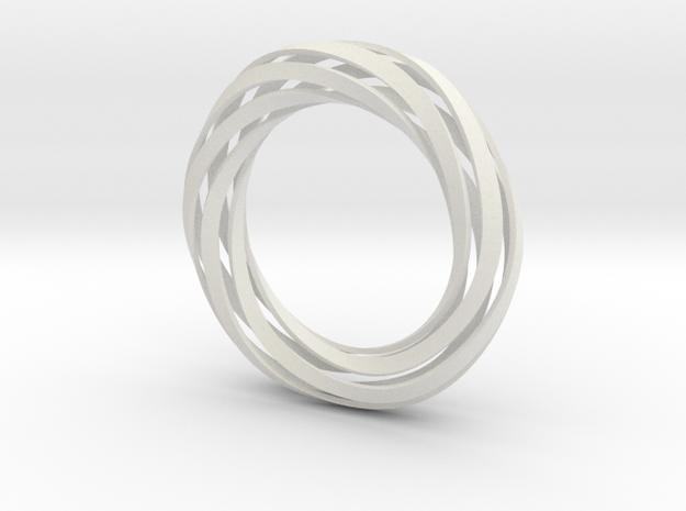 Twist Bracelet (S) in White Natural Versatile Plastic
