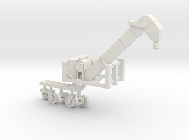 S scale1/64 Conveyor Unloader (Transloader) in White Strong & Flexible