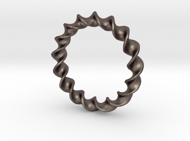 Tore bracelet in Polished Bronzed Silver Steel