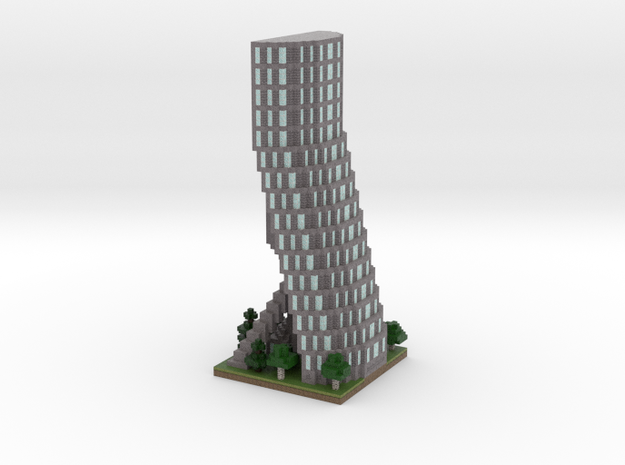 30x30 Tower04 (mix trees) (1mm series) in Full Color Sandstone