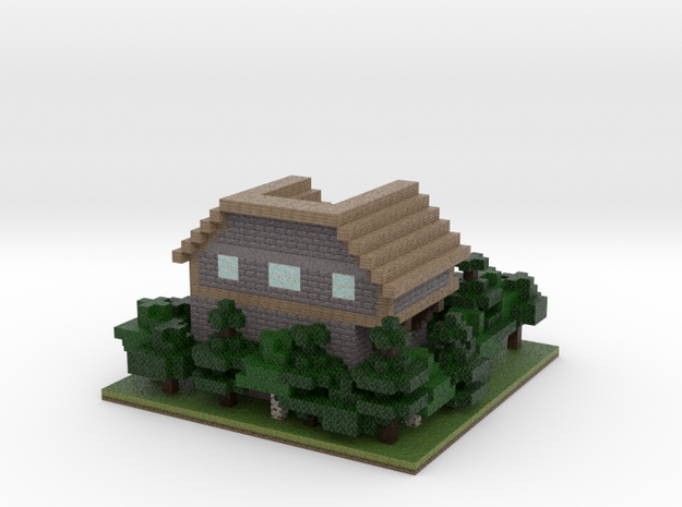 60x60 House03 (mix Trees) (2mm series) 3d printed