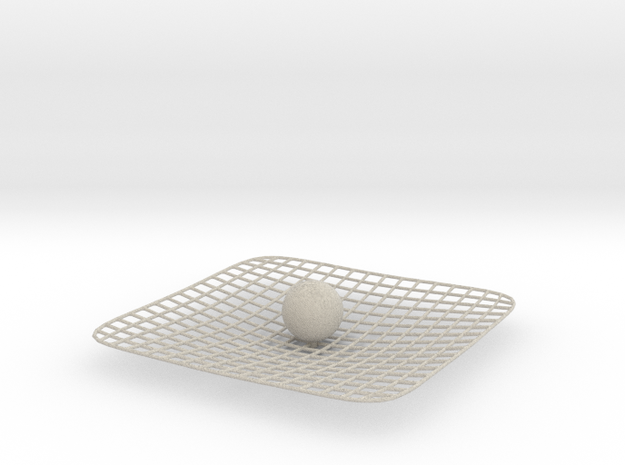 Curved Space - Time 3d printed
