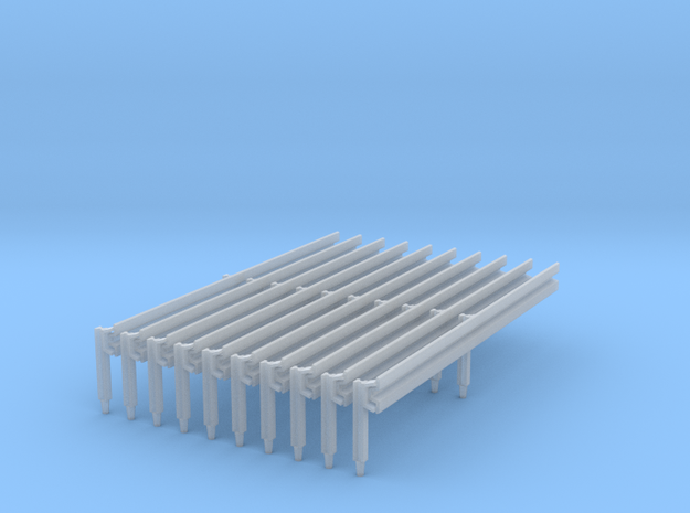 Leitplanke Profil B 10x Spur 0 in Smooth Fine Detail Plastic
