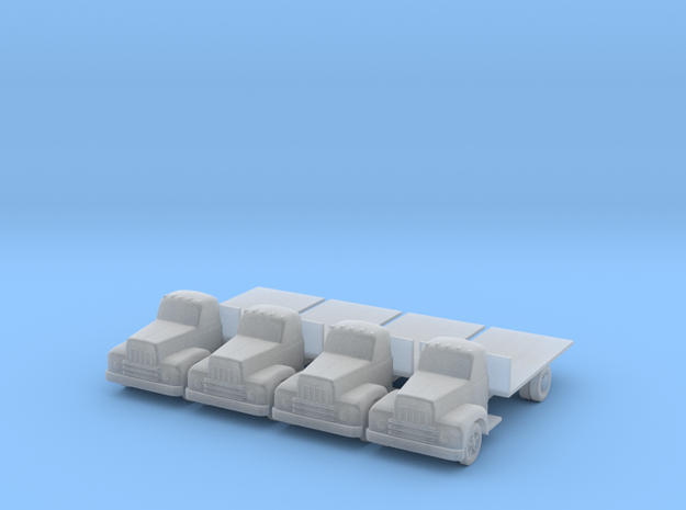 IH R190 Flatbed - Set of 4 - Zscale 3d printed