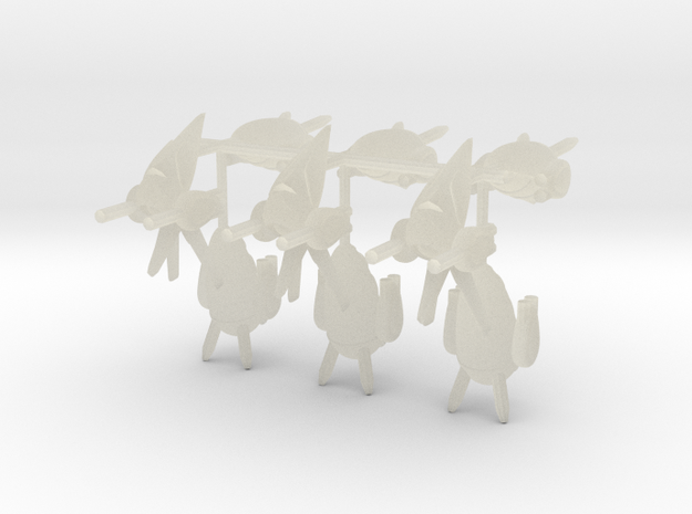 Zenoatian Fighters 3d printed