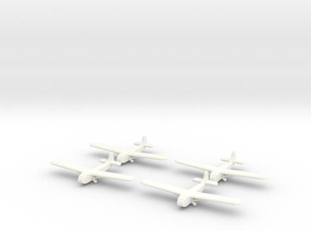 Waco Glider- 1/600 -(x4) in White Processed Versatile Plastic