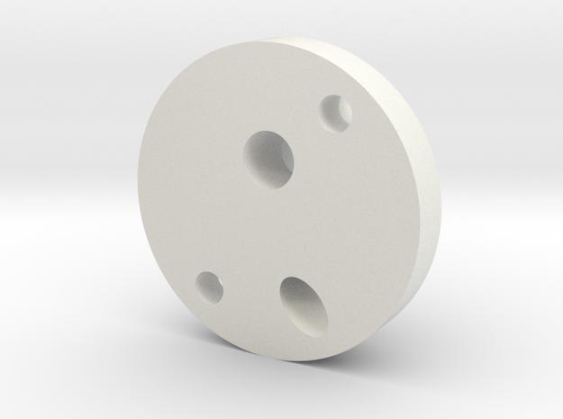 OilPipeJunctionBlock in White Natural Versatile Plastic