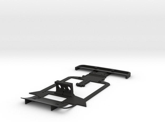 Subchassis V2 Chevron in Black Natural Versatile Plastic
